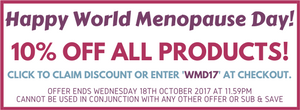 Happy World Menopause Day! 10% off with code WMD17