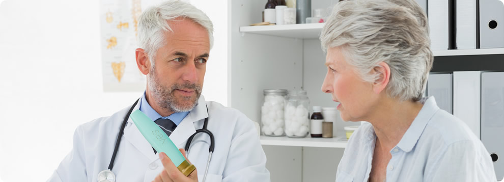 doctor prescribing a woman yes oil based lubricant