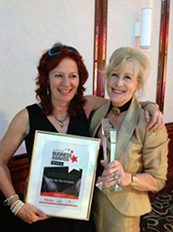 Sarah Brooks and Susi Lennox from The Yes Yes Company, winners of South Coast Business Awards 2012