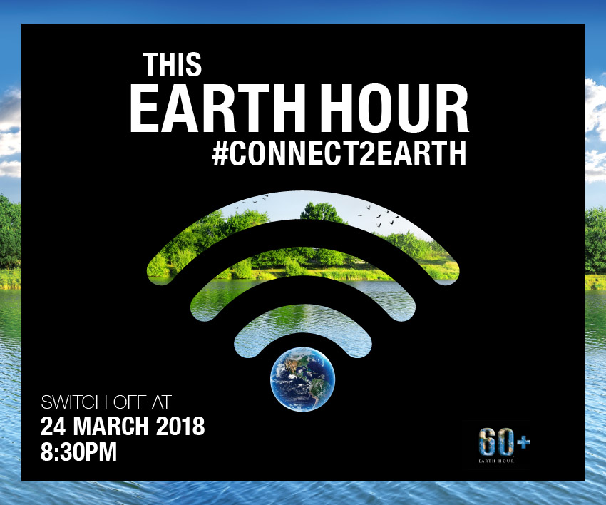 The earth hour campaign logo