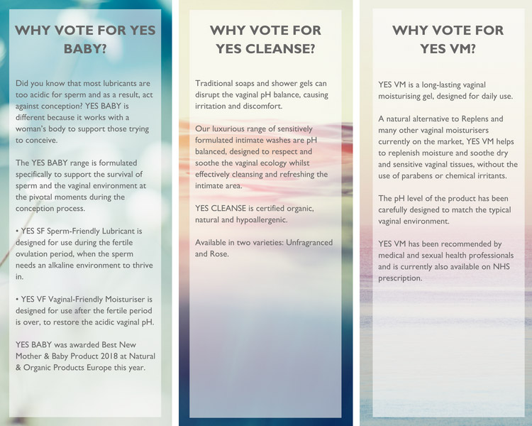 Why vote for YES BABY, YES CLEANSE or YES VM