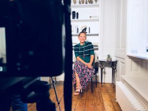Emma Cannon being filmed for the Eve Appeal