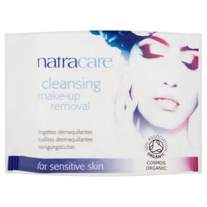 Natracare cleansing make up removal wipes