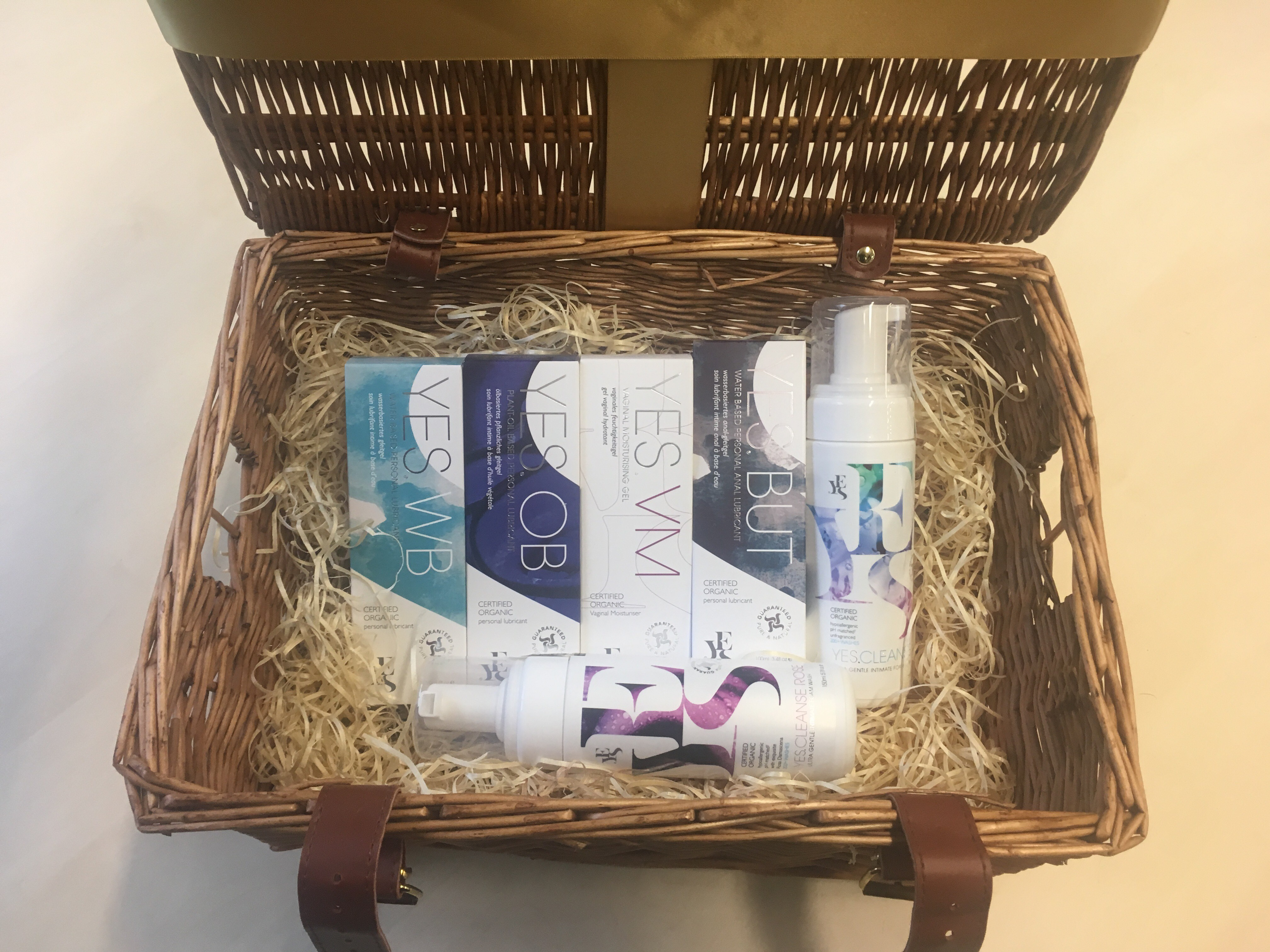 Hamper of YES natural intimate products
